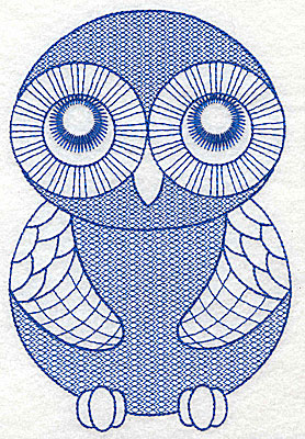 Embroidery Design: Owl H large 4.24w X 6.33h