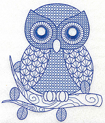 Embroidery Design: Owl I large 5.84w X 6.88h