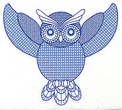 Embroidery Design: Owl J large 6.88w X 6.17h