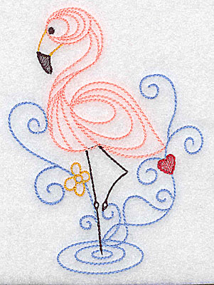 Embroidery Design: Flamingo large 3.56w X 4.93h