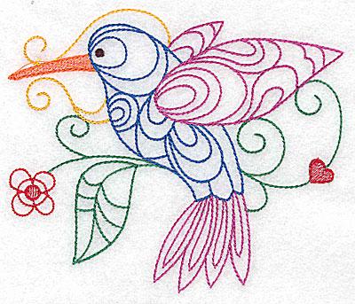 Embroidery Design: Hummingbird large 4.98w X 4.21h