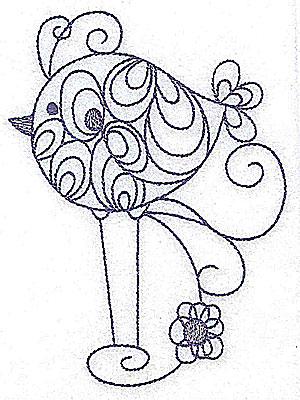 Embroidery Design: Long-legged bird 3.64w X 4.98h