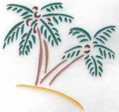 Embroidery Design: Palm trees small 5.27w X 4.96h