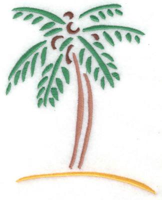 Embroidery Design: Palm tree 3.92w X 4.99h