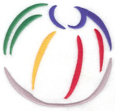 Embroidery Design: Beach ball 4.91w X 4.71h