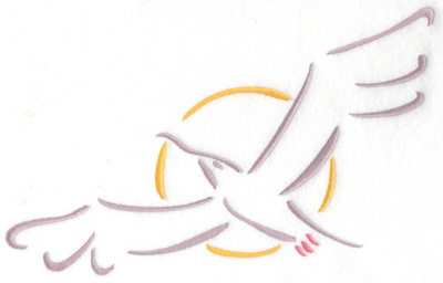 Embroidery Design: Seagull large 9.72w X 6.36h
