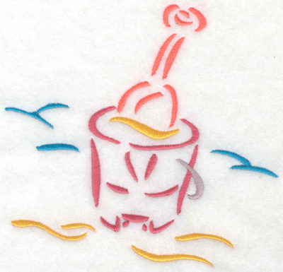 Embroidery Design: Pail and shovel 5.62w X 5.46h