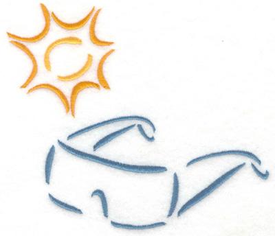 Embroidery Design: Sun glasses with sun small 5.59w X 4.95h