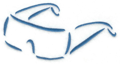 Embroidery Design: Sun glasses 4.97w X 2.54h