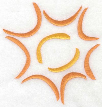 Embroidery Design: Sun 4.66w X 4.99h