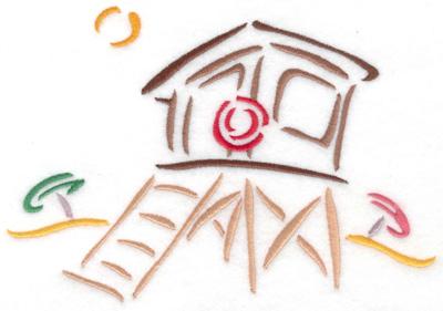 Embroidery Design: Lifeguard hut small 6.87w X 4.79h