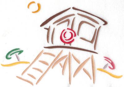Embroidery Design: Lifeguard hut large 9.62w X 6.70h