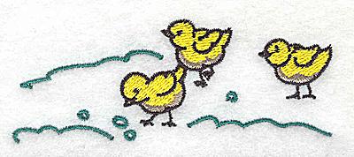 Embroidery Design: Chicks 3.83w X 1.44h