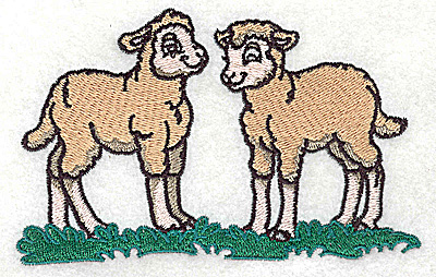 Embroidery Design: Lambs large 4.96w X 3.20h