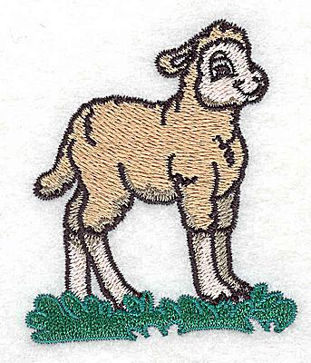 Embroidery Design: Lamb A 2.27w X 2.63h