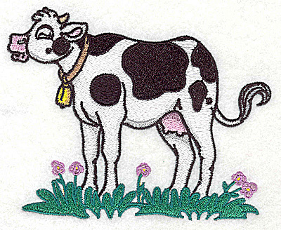 Embroidery Design: Cow large 4.96w X 3.97h