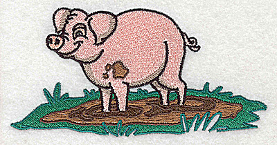 Embroidery Design: Pig large 4.97w X 2.55h