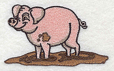 Embroidery Design: Pig 3.50w X 2.11h