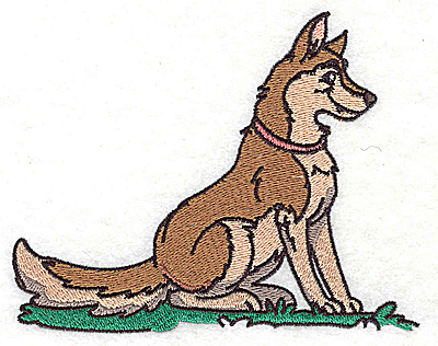 Embroidery Design: Dog large 4.95w X 3.90h