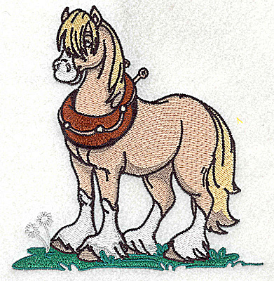 Embroidery Design: Horse large 4.62w X 4.95h