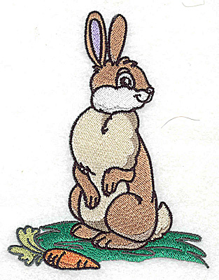 Embroidery Design: Rabbit large 3.85w X 4.96h