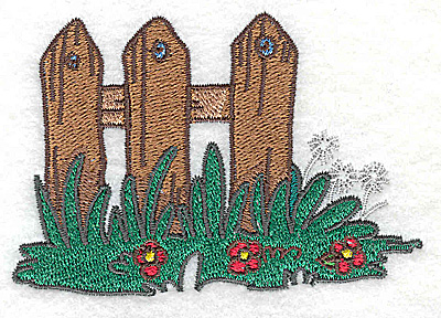 Embroidery Design: Fence 3.52w X 2.42h