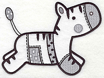 Embroidery Design: Zebra applique large 9.94w X 7.31h