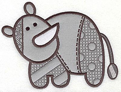 Embroidery Design: Rhino appliques small 6.44w X 4.88h