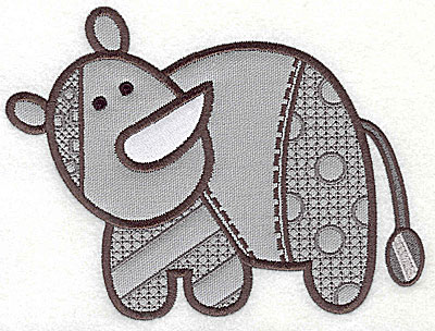 Embroidery Design: Rhino appliques  large 9.69w X 7.38h