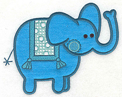 Embroidery Design: Elephant appliques large 9.31w X 7.38h