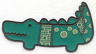 Embroidery Design: Crocodile applique medium 8.63w X 4.94h