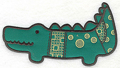 Embroidery Design: Crocodile applique large 10.31w X 5.88h