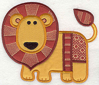 Embroidery Design: Lion appliques large 8.63w X 7.38h