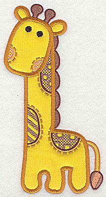 Embroidery Design: Giraffe applique small 3.75w X 6.88h