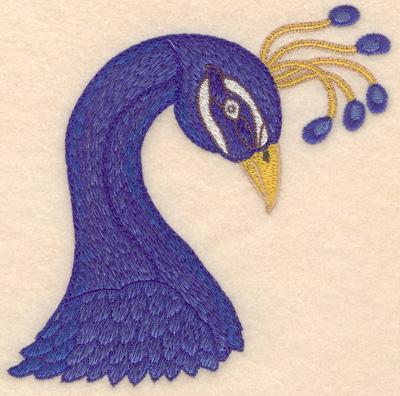 Embroidery Design: Peacock head small 4.85w X 4.98h