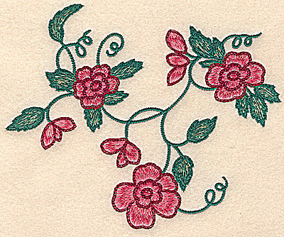Embroidery Design: Floral cluster small 6.21w X 5.00h