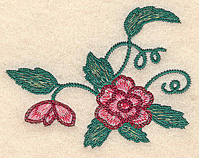 Embroidery Design: Flower small 3.35w X 2.59h