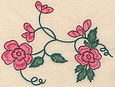 Embroidery Design: Floral design large 7.87w X 6.00h