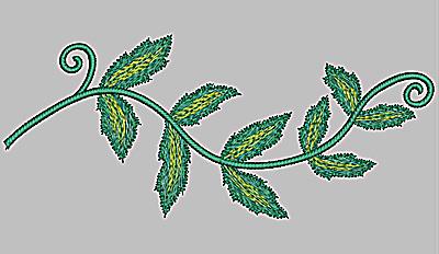 Embroidery Design: Vine large 8.76w X 3.75h