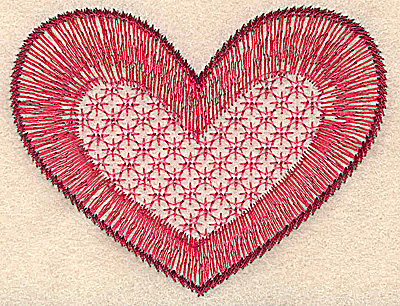 Embroidery Design: Heart small 3.54w X 2.72h