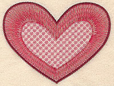 Embroidery Design: Heart medium 5.28w X 4.06h