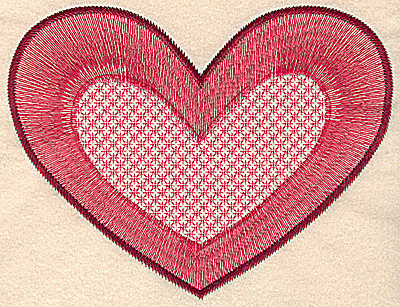 Embroidery Design: Heart large 7.91w X 6.06h