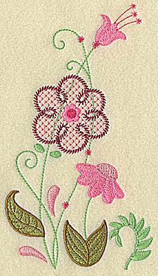 Embroidery Design: Floral variation medium  6.93w X 3.87h