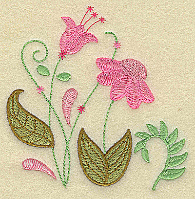 Embroidery Design: Floral variation 3.87w X 3.87h