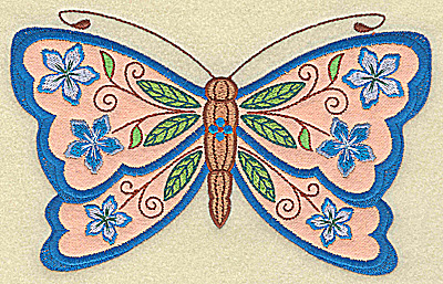 Embroidery Design: Butterfly applique 6.93w X 4.34h