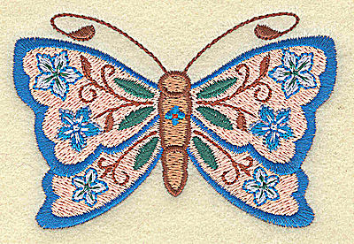 Embroidery Design: Butterfly 3.75w X 2.47h