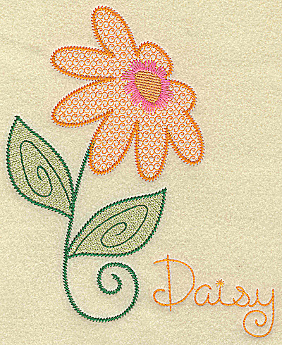 Embroidery Design: Daisy large  6.17w X 7.47h