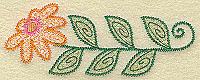 Embroidery Design: Daisy tall 6.21w X 2.37h