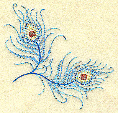 Embroidery Design: Double feather 3.85w X 3.79h
