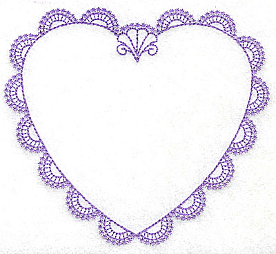 Embroidery Design: Heart B large 4.95w X 4.45h